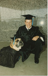 Graduate with Dog, 1993 by Franklin University