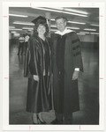 Graduate Stands with Faculty Member, Unknown Date by Franklin University