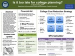 Is It Too Late for College Planning?