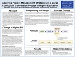 Applying Project Management Strategies in a Large Curriculum Conversion Project in Higher Education by Joel Gardner, Patrick Bennett, Niccole Hyatt, and Kevin Stoker