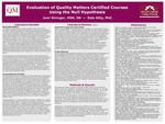 Evaluation of Quality Matters Certified Courses Using the Null Hypothesis