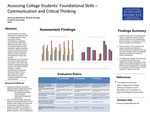 Assessing College Students' Foundational Skills: Communication and Critical Thinking